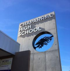 Chaparral High School sign