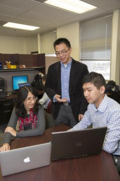 Professor Junshan Zhang, principal investigator of the grant, is creating a suite of forecasting algorithms to better account for renewable sources at all levels of the power grid operation process. Photographer: Jessica Hochreiter/ASU