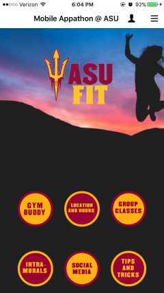 screenshot of ASUFit app