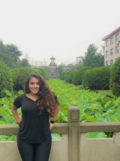 Jasmine Dahdal poses in Chengdu, China