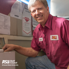 A carpenter for ASU's Tempe campus, Joel Hansen comes back to work after the Staff Helping Staff Fund eased his recovery from a torn ACL.