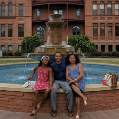 Vergil Haynes and family tour ASU campus