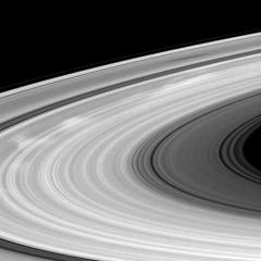 Saturn's rings as seen by Cassini