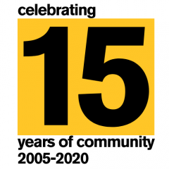15th anniversary logo, Arizona State University, School of Community Resources and Development