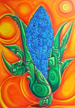 """Spirit of Maiz"" oil painting by Edgar Fernandez"